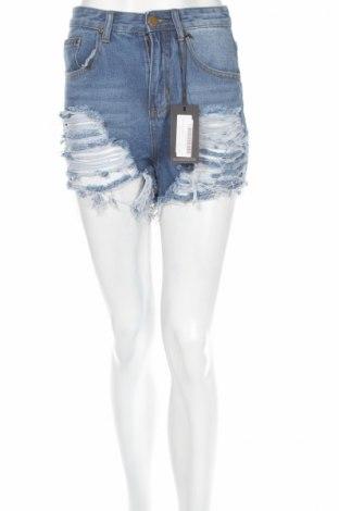 Pantaloni scurți de femei Pretty Little Thing, Mărime S, Culoare Albastru, 95% poliester, 5% elastan, Preț 52,11 Lei