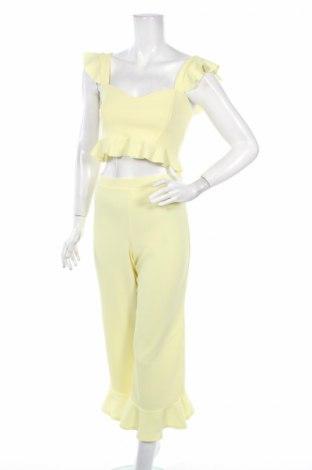 Дамски комплект Boohoo, Размер S, Цвят Жълт, 95% полиестер, 5% еластан, Цена 29,70лв.