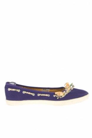 Дамски обувки, Размер 38, Цвят Лилав, Текстил, Цена 7,25лв.