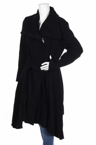 Dámský kabát  BCBG Max Azria, Rozměr L, Barva Černá, 80% vlna, 20% polyamide, Cena  12610,00Kč