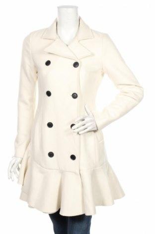 Γυναικείο παλτό BCBG Max Azria, Μέγεθος XS, Χρώμα Εκρού, 70% μαλλί, 30% πολυεστέρας, Τιμή 386,08€