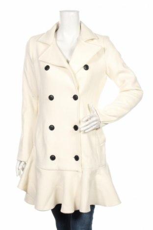 Dámský kabát  BCBG Max Azria, Rozměr S, Barva Krémová, 70% vlna, 30% polyester, Cena  12610,00Kč