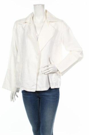 Дамско сако Andrea Mare, Размер M, Цвят Бял, Лен, Цена 4,73лв.