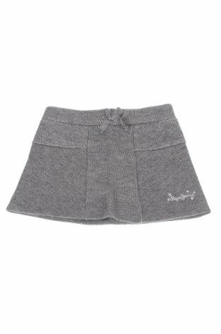 Детска пола Pepe Jeans, Размер 18-24m/ 86-98 см, Цвят Сребрист, 57% памук, 25% полиестер, 18% метални нишки, Цена 20,47лв.
