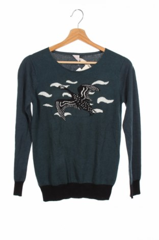 Детски пуловер Litlle Karl Marc John, Размер 14-15y/ 168-170 см, Цвят Зелен, 37% вискоза, 30% памук, 23% вълна, 10% полиамид, Цена 21,28лв.