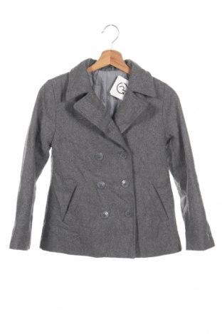 Dětský kabát , Rozměr 10-11y/ 146-152 cm, Barva Šedá, 41% vlna, 38% polyester, 11% viskóza, 7%acryl, 3% vlákno, Cena  562,00Kč
