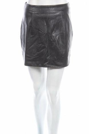 Δερμάτινη φούστα, Μέγεθος S, Χρώμα Μαύρο, Δερματίνη, Τιμή 7,52€