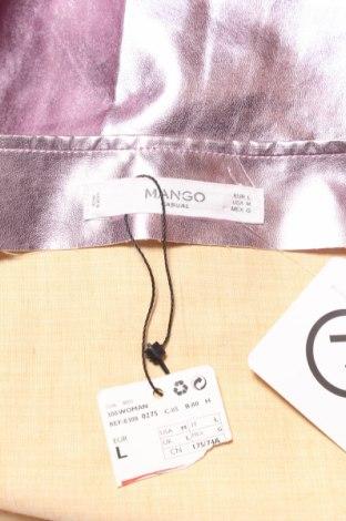 Кожена пола Mango, Размер M, Цвят Розов, Еко кожа, Цена 43,50лв.