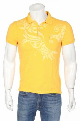 Мъжка тениска Gas, Размер S, Цвят Жълт, Памук, Цена 38,16лв.