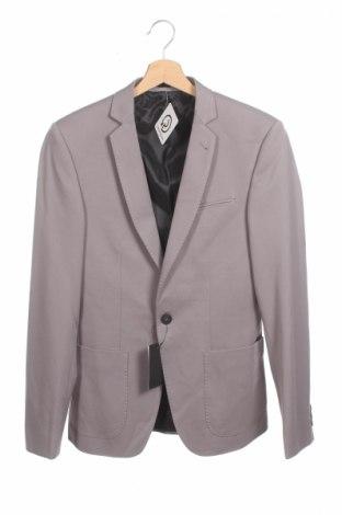 Pánske sako  Asos, Veľkosť M, Farba Sivá, 62% polyester, 33% viskóza, 5% elastan, Cena  11,52€