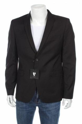Pánske sako  V by Very, Veľkosť L, Farba Čierna, 70% polyester, 30% viskóza, Cena  9,20€