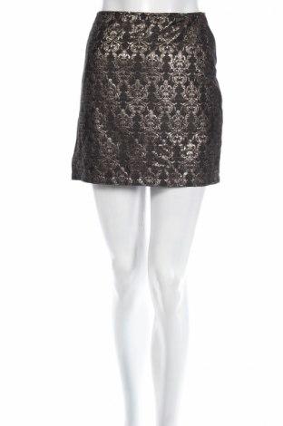 Пола La Redoute, Размер L, Цвят Черен, 43% памук, 40% полиестер, 17% метални нишки, Цена 6,60лв.