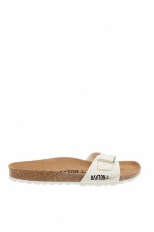 Γυναικείες παντόφλες Bayton, Μέγεθος 40, Χρώμα Λευκό, Δερματίνη, Τιμή 19,28€