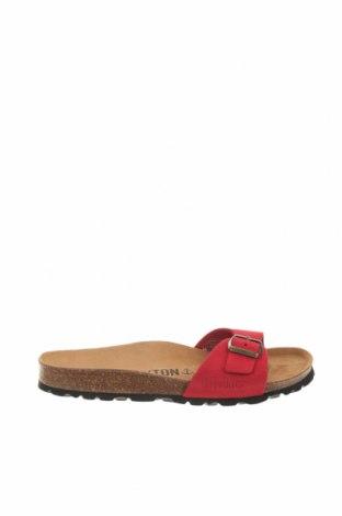 Pantofle Bayton, Velikost 37, Barva Červená, Přírodní velur , Cena  711,00Kč