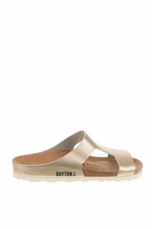 Γυναικείες παντόφλες Bayton, Μέγεθος 38, Χρώμα Χρυσαφί, Δερματίνη, Τιμή 34,41€