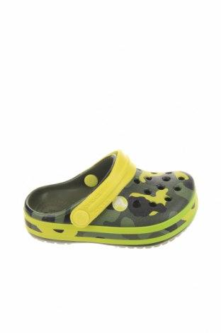 Чехли Crocs, Размер 21, Цвят Зелен, Полиуретан, Цена 44,25лв.