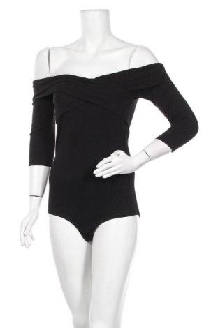 Дамска блуза - боди Even&Odd, Размер S, Цвят Черен, 95% памук, 5% еластан, Цена 26,28лв.