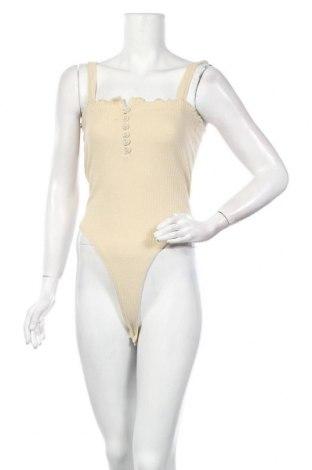 Дамска блуза - боди Missguided, Размер S, Цвят Бежов, 50% полиестер, 45% памук, 5% еластан, Цена 16,00лв.