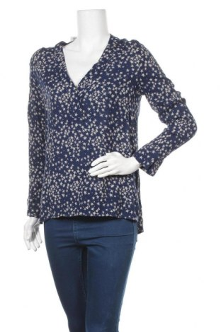 Дамска блуза H&M L.O.G.G., Размер M, Цвят Син, Вискоза, Цена 10,40лв.