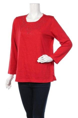 Γυναικεία μπλούζα Malva, Μέγεθος L, Χρώμα Κόκκινο, 65% πολυεστέρας, 35% βαμβάκι, Τιμή 4,32€