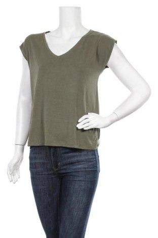 Γυναικεία μπλούζα Pieces, Μέγεθος S, Χρώμα Πράσινο, 76% μοντάλ, 24% πολυεστέρας, Τιμή 4,45€