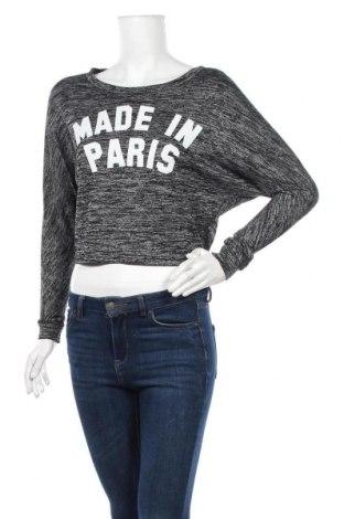 Дамска блуза Tally Weijl, Размер XXS, Цвят Сив, 45% полиестер, 48% вискоза, 3% еластан, Цена 17,85лв.