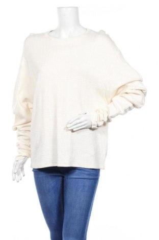 Дамска блуза Zara Trafaluc, Размер L, Цвят Екрю, 62% памук, 38% вискоза, Цена 19,50лв.