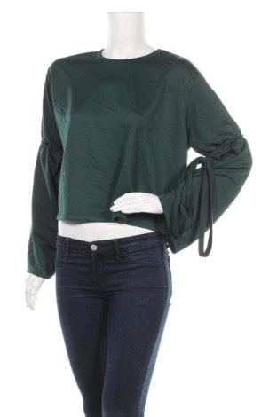 Дамска блуза Zara Trafaluc, Размер M, Цвят Зелен, 100% полиестер, Цена 20,25лв.
