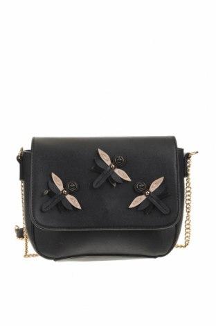 Γυναικεία τσάντα Hallhuber, Χρώμα Μαύρο, Δερματίνη, Τιμή 17,54€