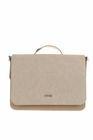Дамска чанта O bag, Цвят Бежов, Полиуретан, Цена 76,45лв.