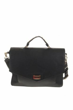 Дамска чанта Zara Trafaluc, Цвят Черен, Еко кожа, Цена 41,25лв.