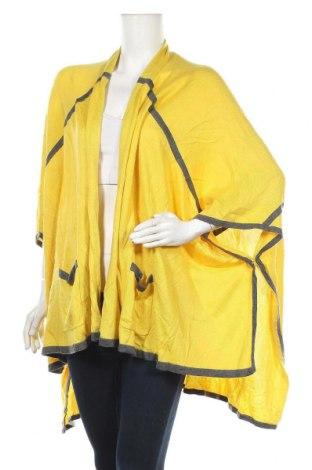 Дамска жилетка Decjuba, Размер S, Цвят Жълт, Акрил, полиамид, Цена 5,51лв.