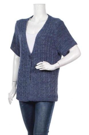 Γυναικεία ζακέτα Gina Laura, Μέγεθος XL, Χρώμα Μπλέ, 56% πολυακρυλικό, 44% πολυαμίδη, Τιμή 14,81€