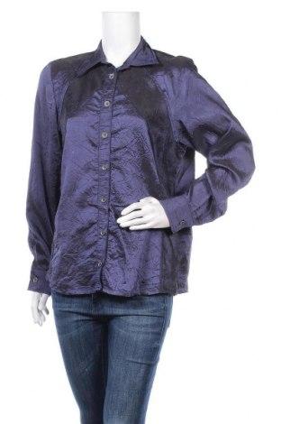 Дамска риза, Размер L, Цвят Син, 56% полиестер, 44% вискоза, Цена 4,73лв.