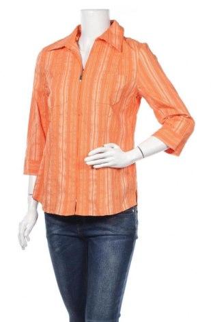 Дамска риза Chris Line, Размер M, Цвят Оранжев, 45% полиамид, 31% вискоза, 20% полиестер, 4% еластан, Цена 8,03лв.