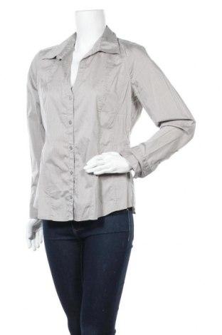 Дамска риза Comma,, Размер L, Цвят Сив, 72% памук, 24% полиамид, 4% еластан, Цена 10,08лв.