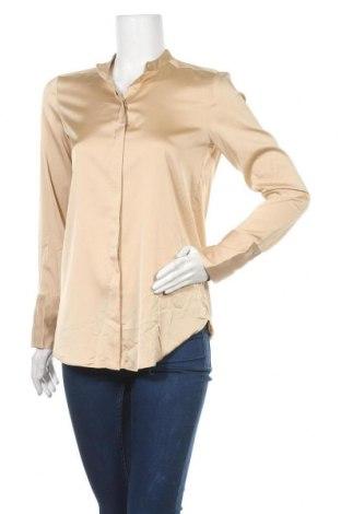 Дамска риза H&M, Размер S, Цвят Бежов, Цена 14,28лв.