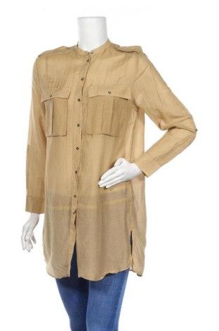 Дамска риза Mango, Размер XS, Цвят Бежов, Цена 15,12лв.