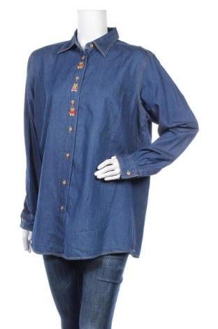 Дамска риза Marcel Clair, Размер L, Цвят Син, 100% памук, Цена 21,74лв.