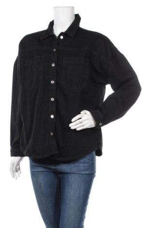 Дамска риза New Look, Размер M, Цвят Черен, 100% памук, Цена 17,60лв.