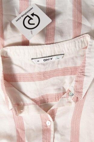 Дамска риза ONLY, Размер L, Цвят Бял, 59% лиосел, 41% лен, Цена 19,80лв.