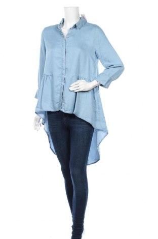 Дамска риза ONLY, Размер M, Цвят Син, Лиосел, Цена 31,50лв.