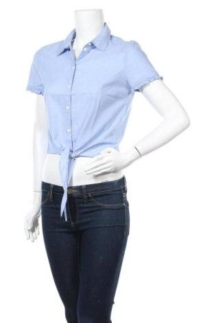 Дамска риза ONLY, Размер S, Цвят Син, Памук, Цена 35,88лв.