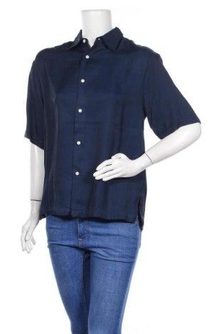 Дамска риза Sandro, Размер M, Цвят Син, Вискоза, Цена 30,40лв.