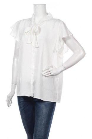 Γυναικείο πουκάμισο Soya Concept, Μέγεθος L, Χρώμα Λευκό, Πολυεστέρας, Τιμή 15,21€