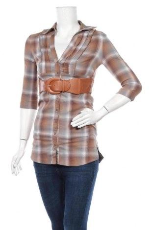 Дамска риза Tally Weijl, Размер XS, Цвят Кафяв, 67% памук, 30% полиестер, 3% еластан, Цена 11,34лв.