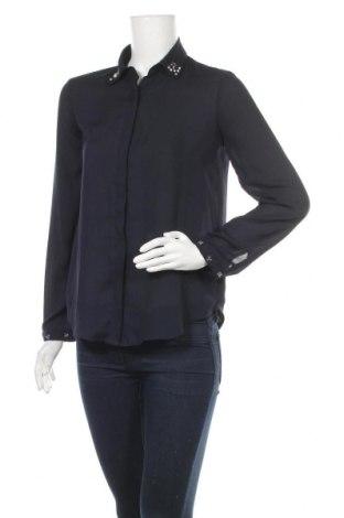 Дамска риза Zara, Размер S, Цвят Син, Цена 17,64лв.