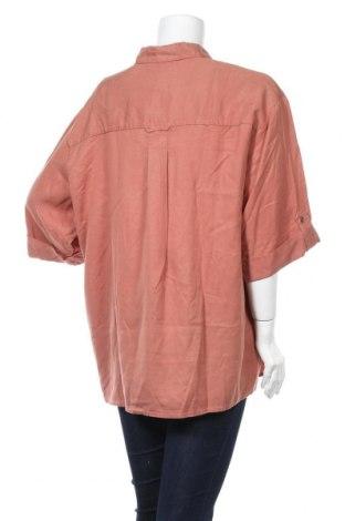 Дамска риза-боди Mango, Размер M, Цвят Розов, Лиосел, Цена 19,47лв.