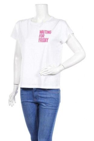 Дамска тениска, Размер M, Цвят Бял, Памук, Цена 21,06лв.