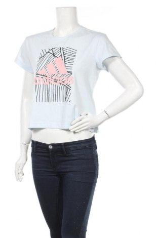 Γυναικείο t-shirt Adidas, Μέγεθος M, Χρώμα Μπλέ, 74% πολυεστέρας, 19% βαμβάκι, 7% ελαστάνη, Τιμή 13,20€